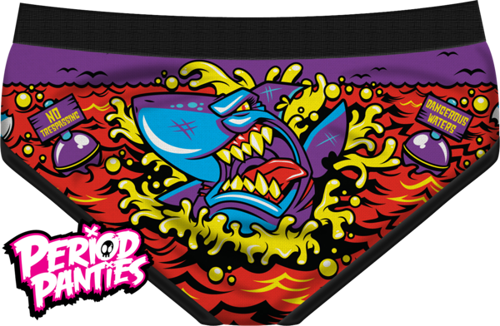 MAJTKI PERIOD PANTIES - SHARK WEEK BRIEF
