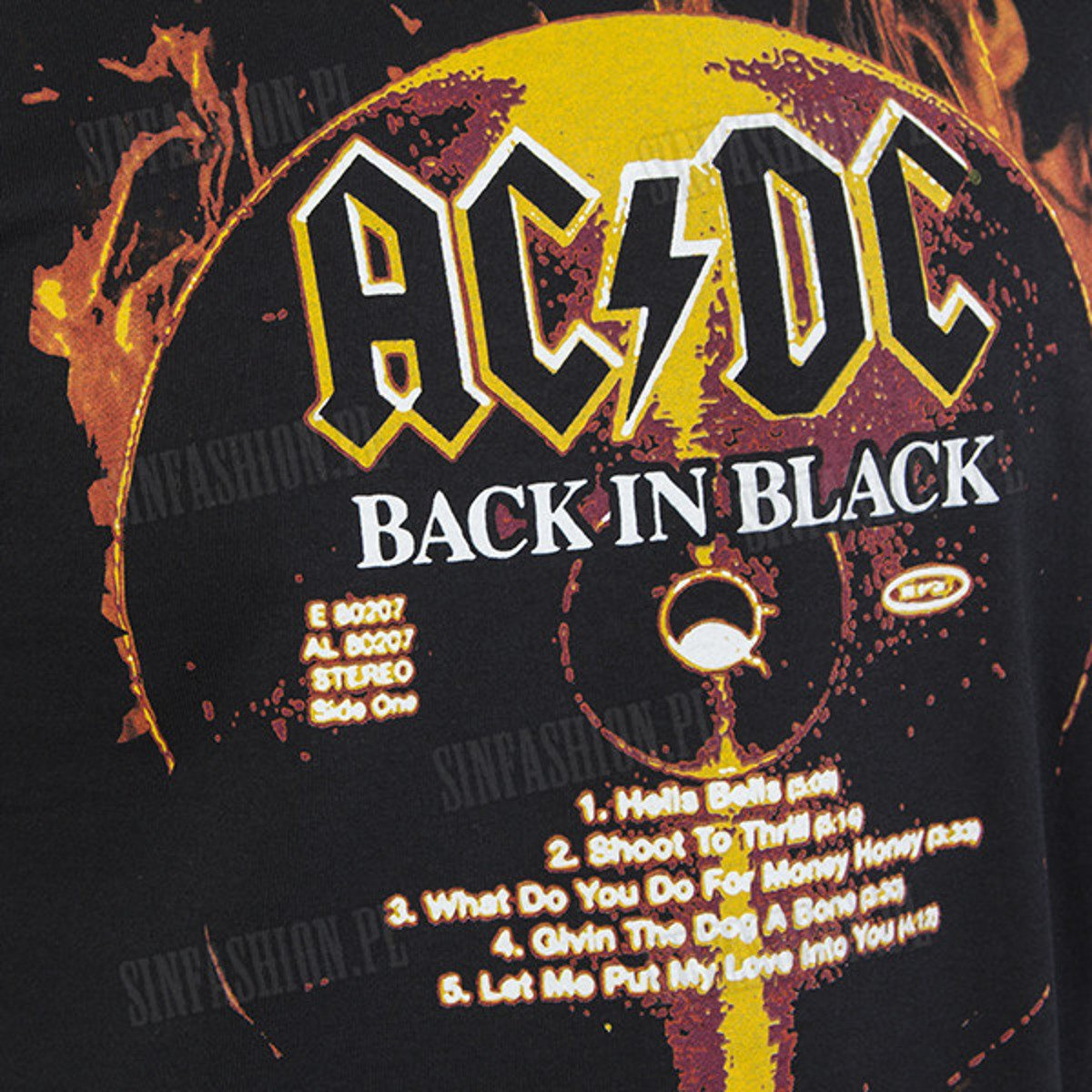 KOSZULKA ROCKOFF - AC/DC BACK IN BLACK