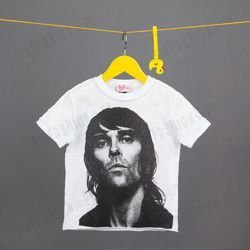 KOSZULKA AMPLIFIED -IAN BROWN FACE WHT