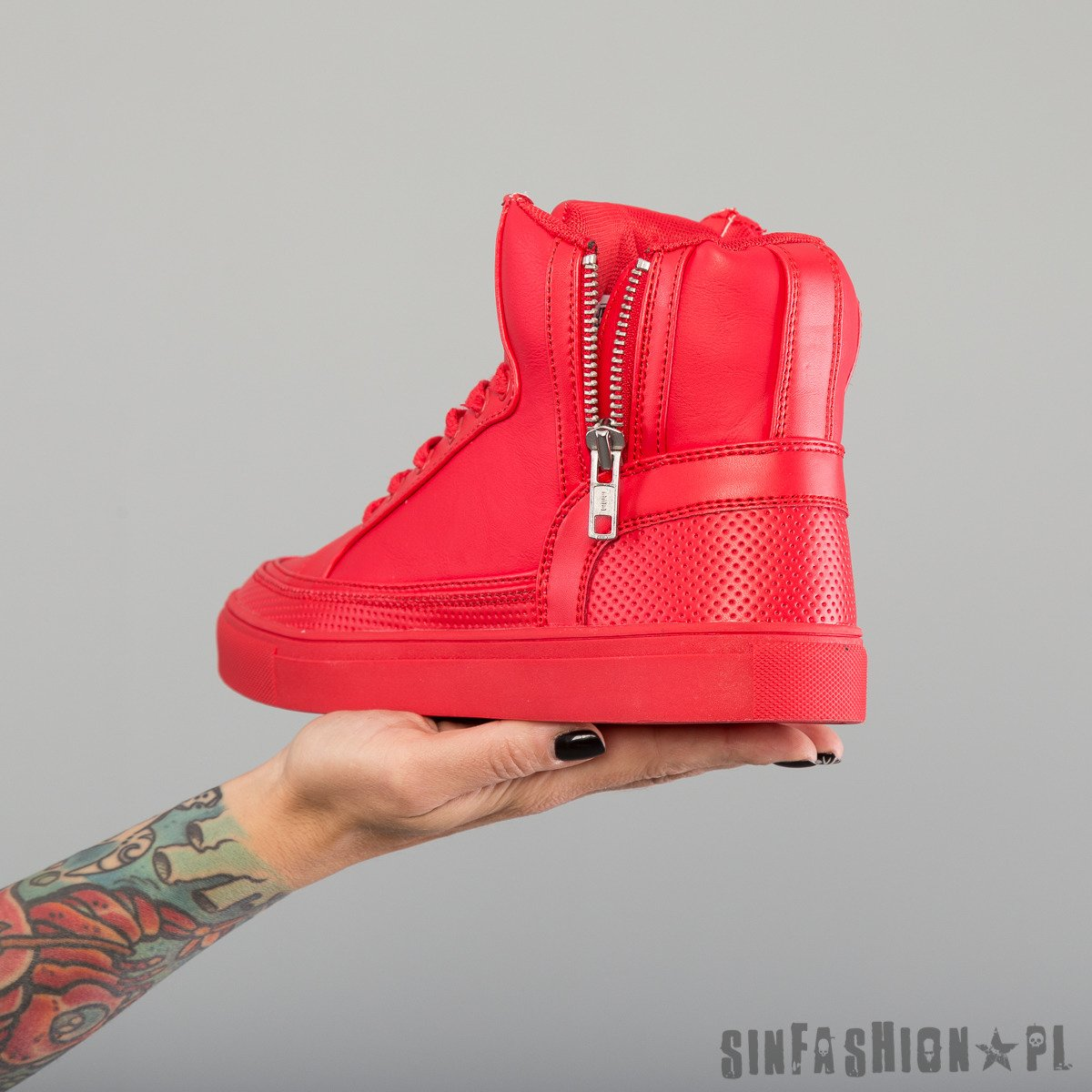 BUTY UC - ZIPPER HIGH TOP RED