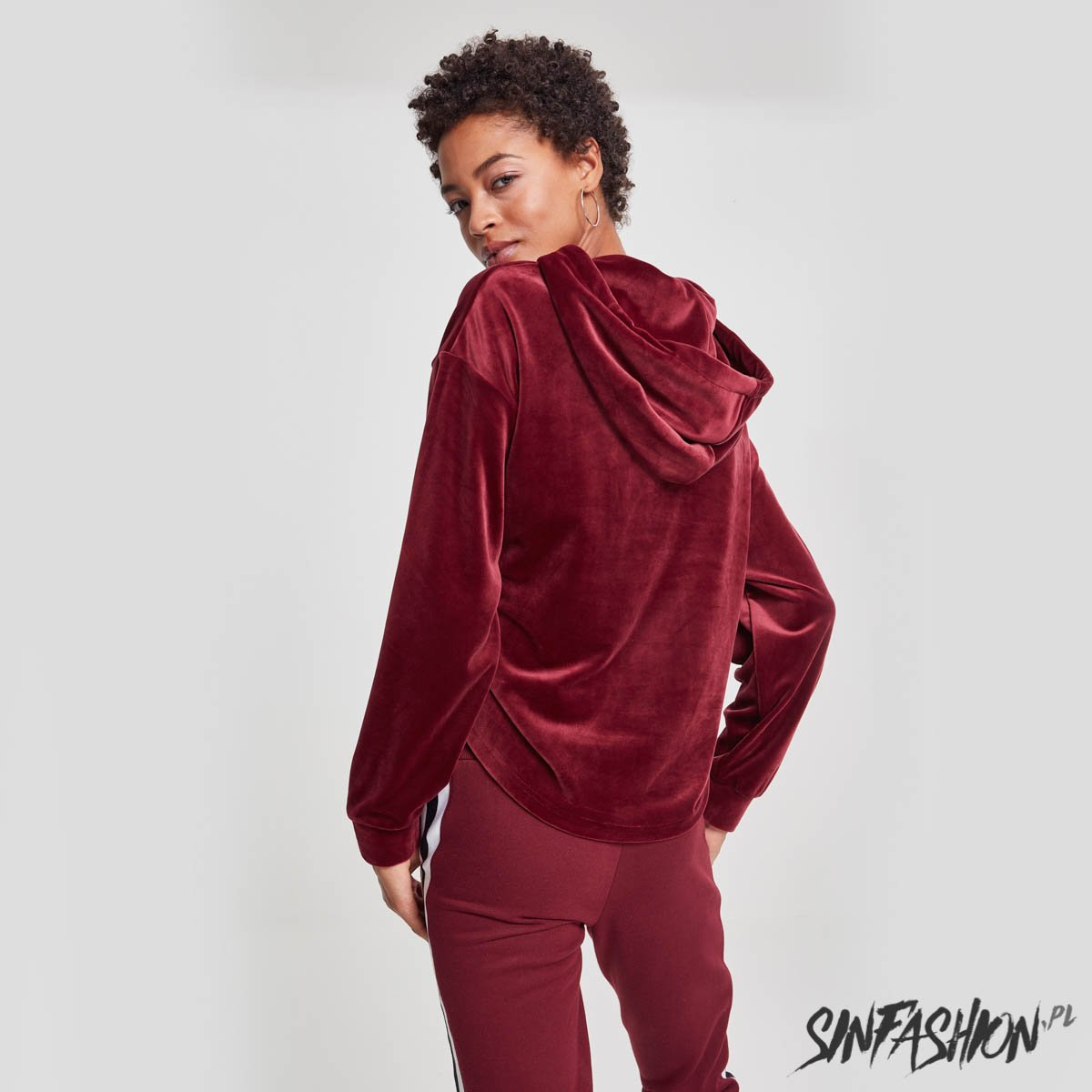 Bluza Urban Classics Velvet Gathered Port