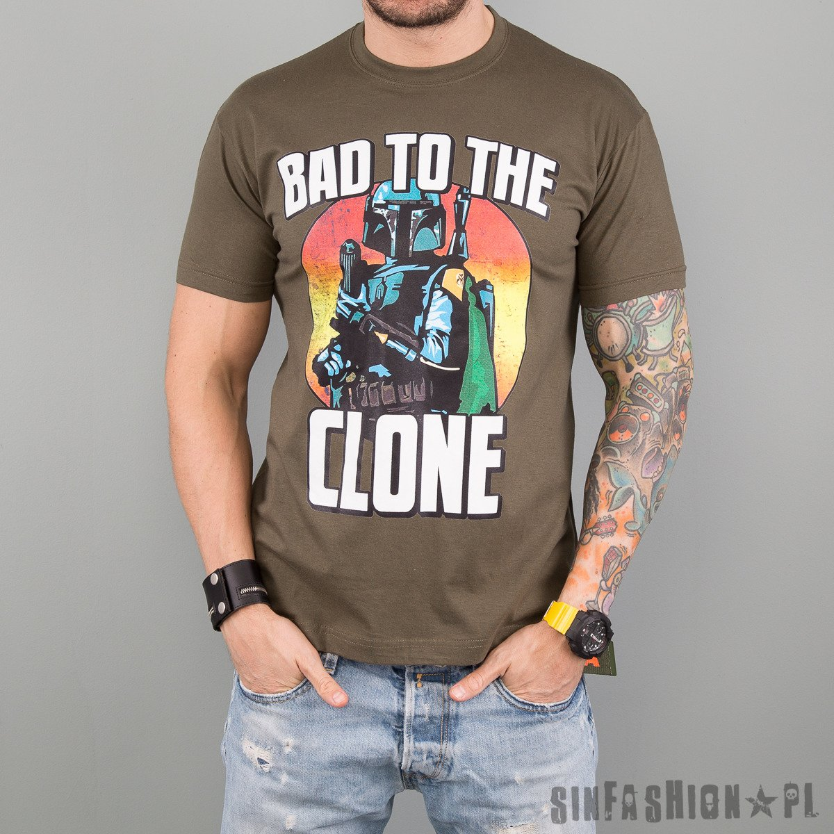 KOSZULKA STAR WARS - BAD TO THE CLONE