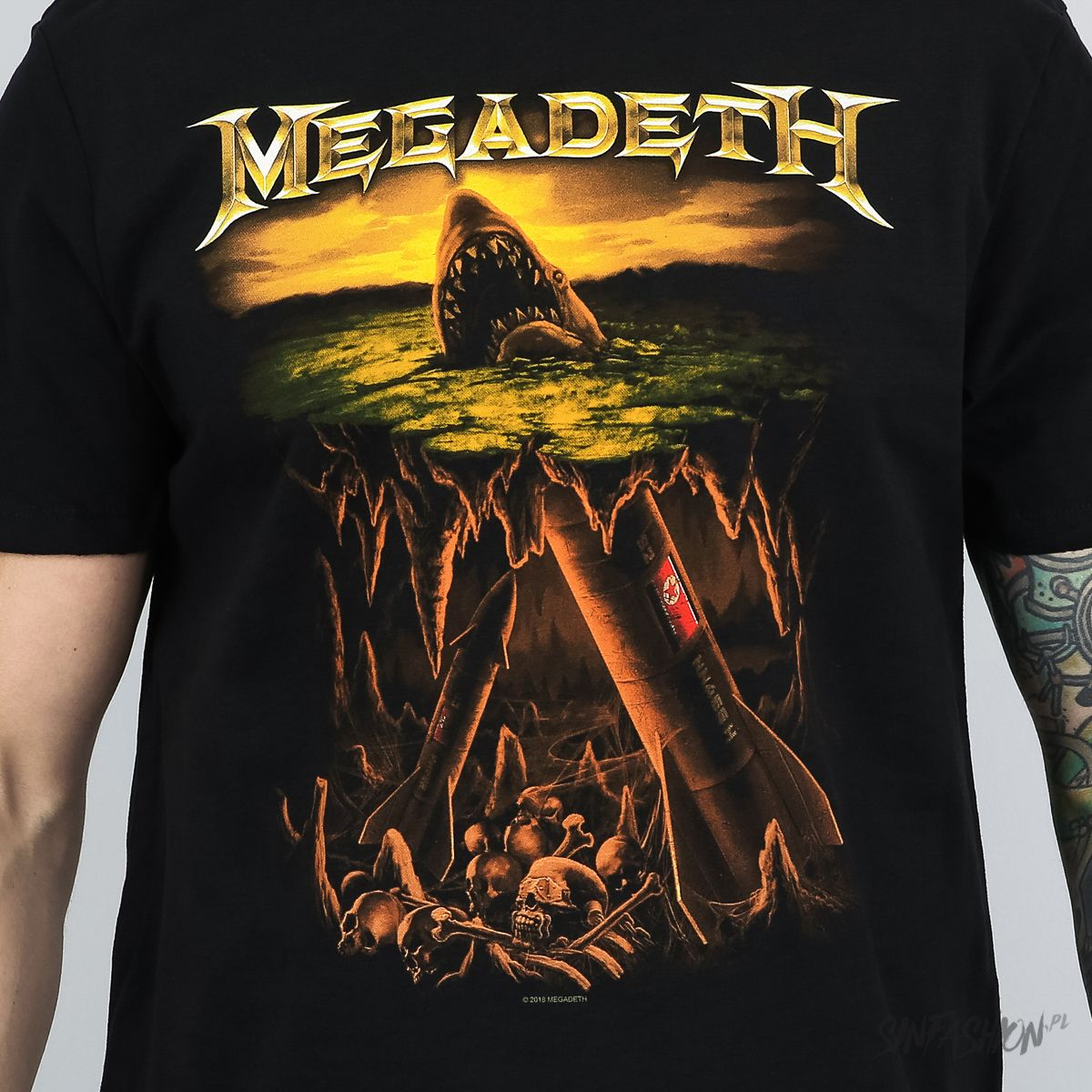 Koszulka Amplified Megadeth Shark Nukes