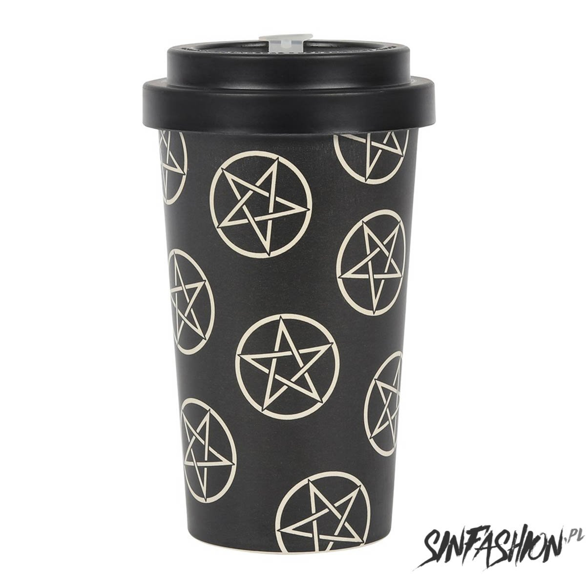 Kubek Podróżny Black Decor Pentagram