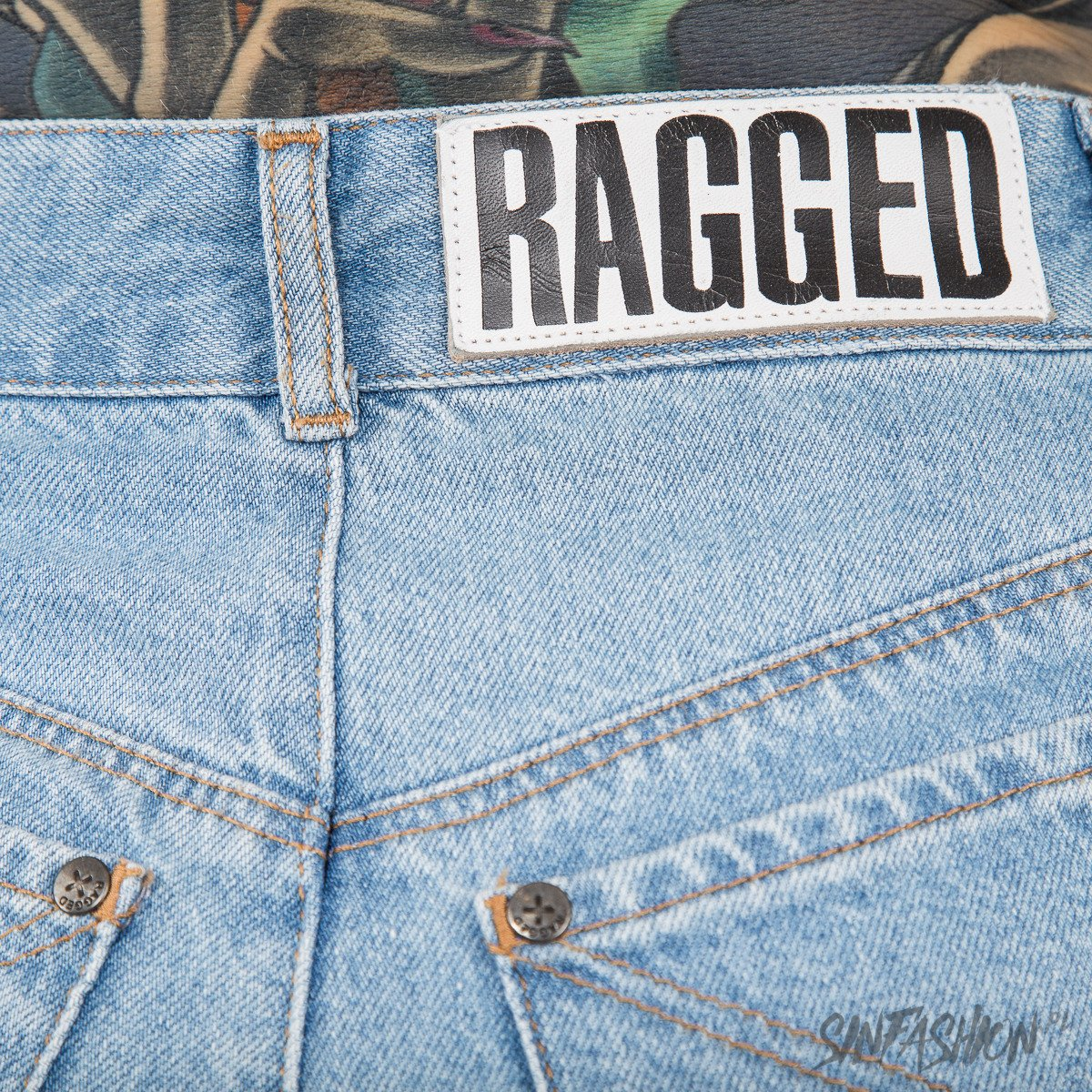 SPODNIE RAGGED PRIEST - SCRATCH DENIM JEANS