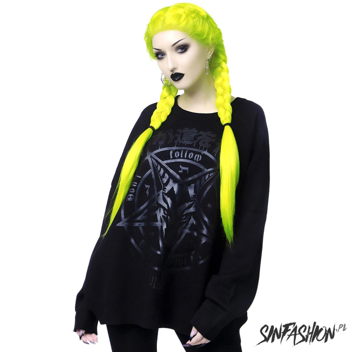 Sweter Killstar Blazed Out Batwing Sweater