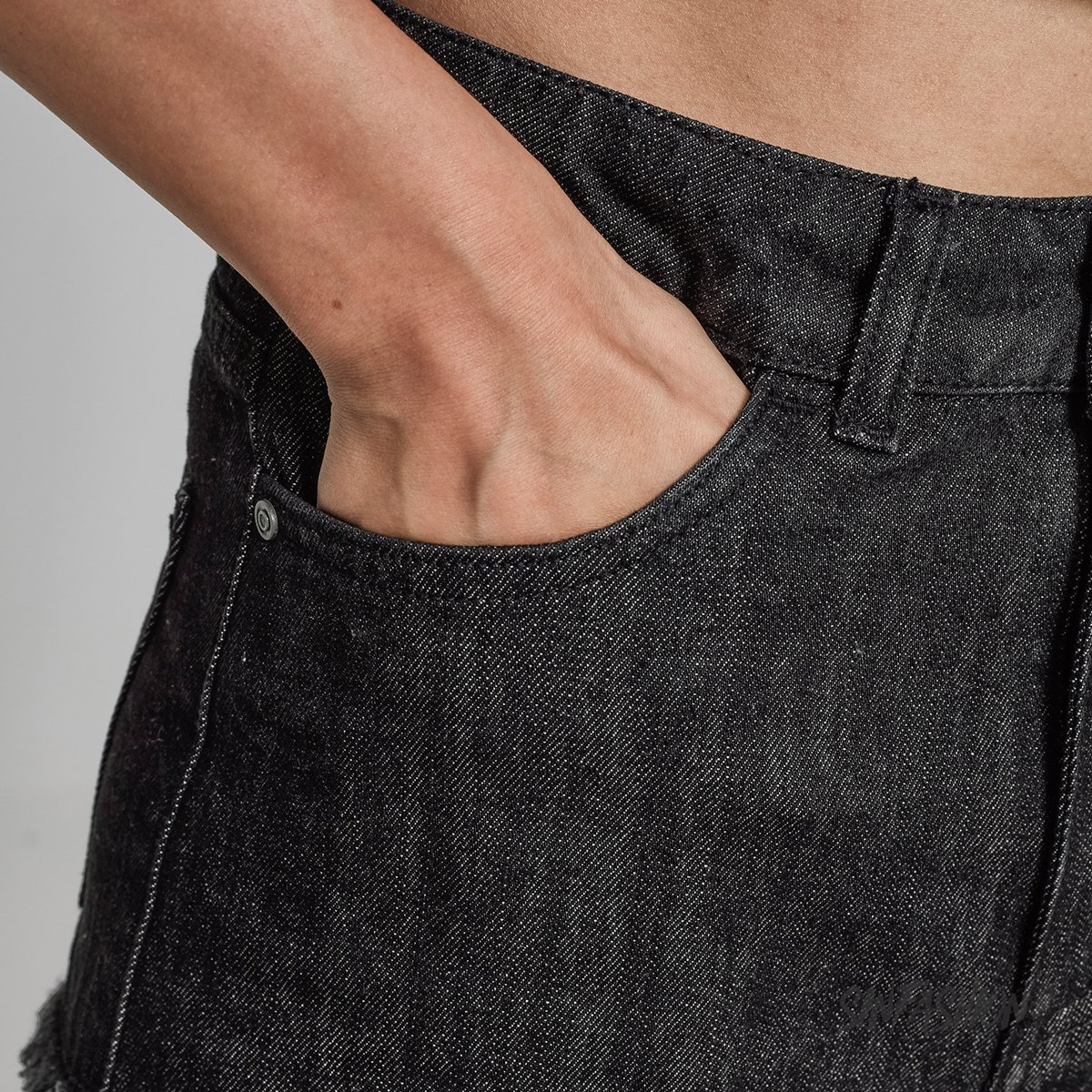 Szorty Urban Classics Denim Black Washer